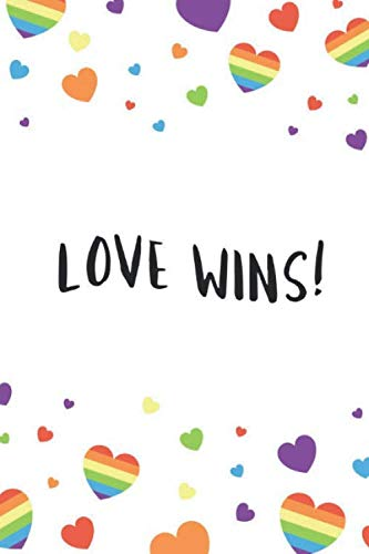 3bfbcf513acae Love Wins: LGBT Notebook, Unlined, Lgbt Pride, Lgbt Journal, Rainbow Cover  (110 Pages, Blank, 6 x 9)