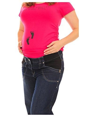 Rose fée Exclusive AMI spécial souple en Jean de grossesse Bleu - Blue Under Bump