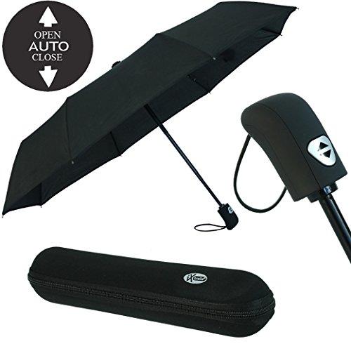 Regenschirm schwarz mit Etui - 3