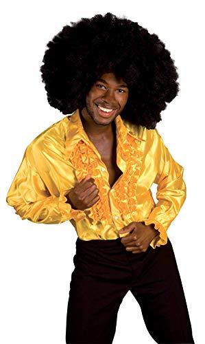 Party Herren 80's Kostüm Theme - Boland Hemd, Farbe Gelb, 2133