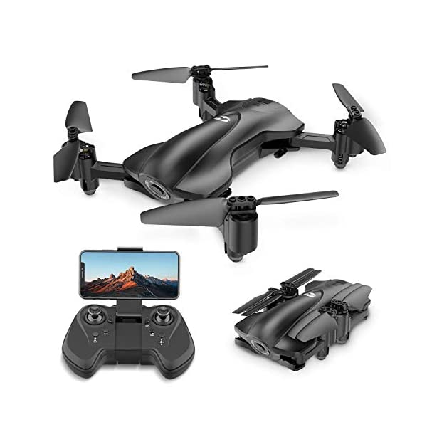 Holy Stone HS165 GPS Drone with 2K HD Camera for Adults, Foldable Drone for Beginners, FPV RC Quadcopter with GPS Return Home, Follow Me, Altitude Hold and 5G WiFi Transmission Live Video 1