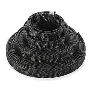 Tressée 4mm fil auto extensible câble gaine gaine haute densité
