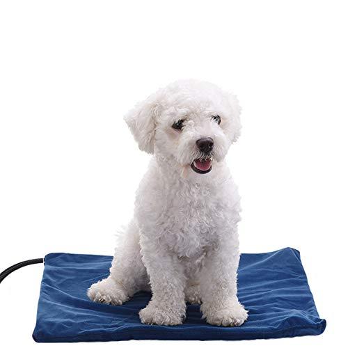 Petilleur Hund Heizmatte Heizdecke Hund Katze Wärmematte für Hund/Katzen, 7 Temperatureinstellung Modi (40 * 30cm)