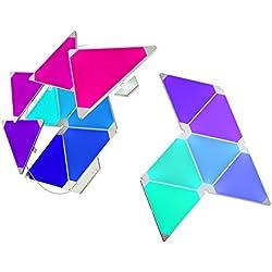 nanoleaf Light Panels Rhythm Starter Kit - 15x Modulare Smarte LED & Sound Modul - Lichtpanels mit App Steuerung [Erweiterbar | 16 Millionen Farben | Alexa kompatibel | Plug and Play | iOS (Apple Home Kit kompatibel) & Android] [Energieklasse A]