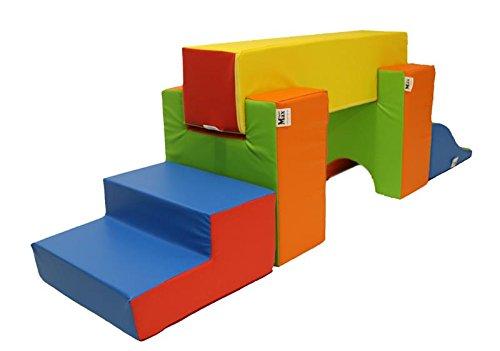 Preisvergleich Produktbild Krippen Spiel-und Bewegungslandschaft 5 Teilig XL Softbausteine mit Antirutschboden