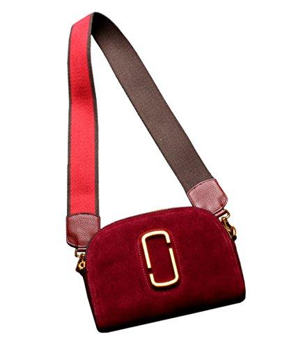 SAIERLONG Nuovo Donna Grande Rosso Vera Pelle Borse Crossbody Sacchetti di spalla Vino rosso
