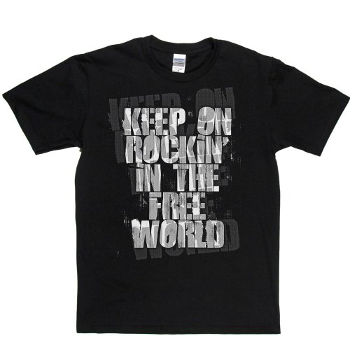 Crazy Horse T-shirt (Keep On Rockin in the Free World T-shirt (black/white small))