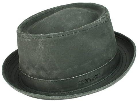 Stetson Odenton Pork Pie Hut Used-look Porkpie mit UV-Schutz - schwarz S/54-55