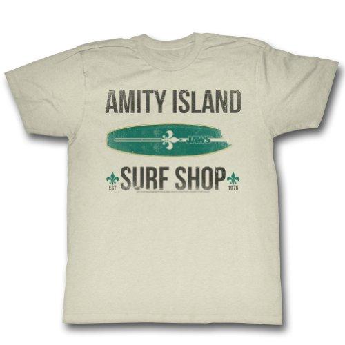 Jaws - Herren Surf Shop T-Shirt Vintage White