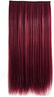 Fashion fluffy long Hair Extension Red W1022