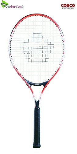 COSCO ACR JR.26 Mid Junior Size Aluminium Tube Racket (26 Inches) Cover.