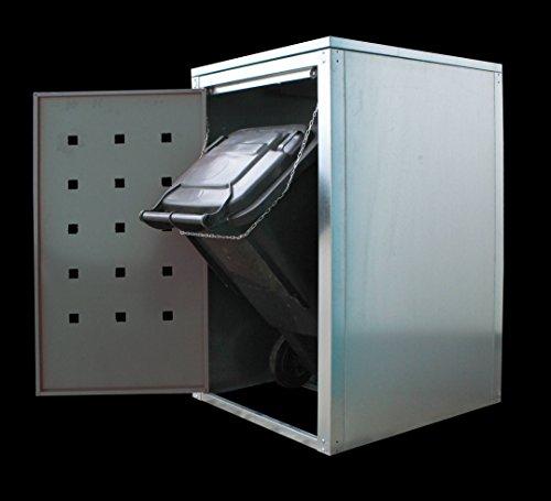 Geiger Mülltonnenbox Metall 120l Zink - 2