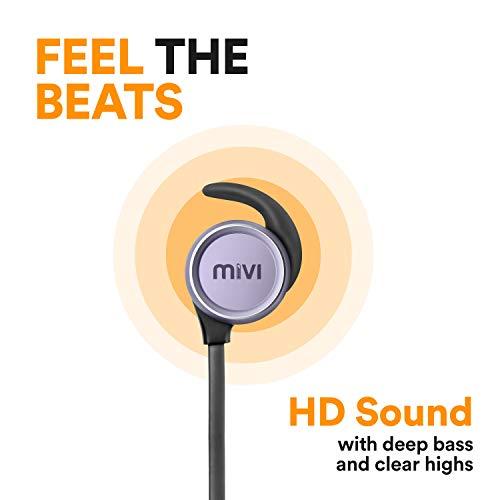 Mivi ThunderBeats Wireless Bluetooth Earphones with Mic - Gun Metal Image 2
