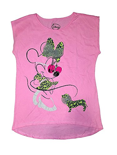 Disney Minnie Mouse with Dog Youth Girls Cap Sleeve Tee Shirt (Xlarge) (Tee Sleeve Youth)