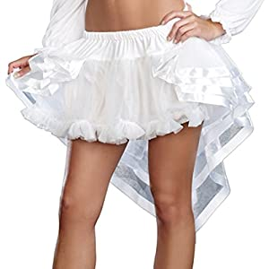 DreamGirl-Disfraz de 8964Fairy Tail Enaguas, Blanco, Talla única