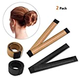 IBEET Bun Hair Maker, Magic Hair Styling Donut Brötchenmacher, Haarknotenformer für Frauen Mädchen DIY Frisur Tools, 2 Packs