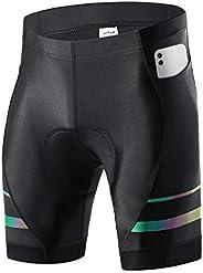 NICEWIN Pantaloncini da Ciclismo da Uomo Bicicletta Pantaloncini MTB Ciclismo Uomo Imbottiti in Gel 3D Traspir