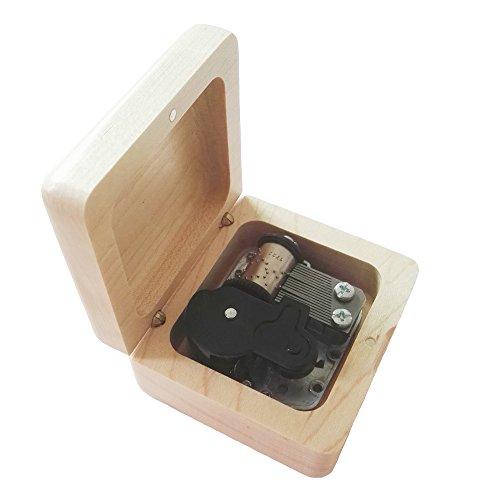 FnLy Caja Musical de Madera con 18 Notas, diseño Retro, con Movimiento Chapado en Plata, Caja de Regalo de música, Caja de música temática del Señor de los Anillos