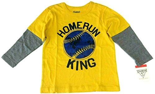 OshKosh B'Gosh 92/98 Langarmshirt für Jungen Boy USA Size 3 t Sweatshirt gelb Baseball Oshkosh Usa-sweatshirt