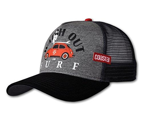 COASTAL - Watch Out (heather grey/black) - High Fitted Trucker Cap (Cap Watch Black)