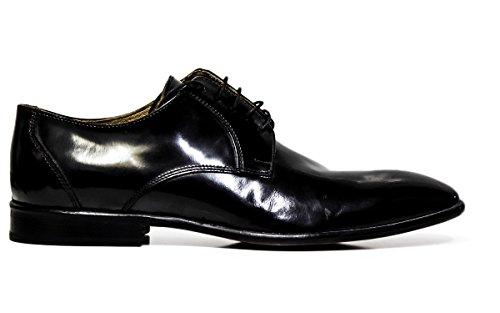 EXTON uomo scarpe eleganti stringate 9612 ABRASIVATO NERO