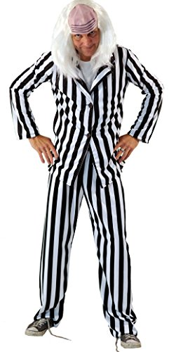 Scary Beetlejuice Costume in big range of sizes from teen to adult.