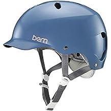 Bern bw05e18sid2casco de bicicleta para mujer, azul, M