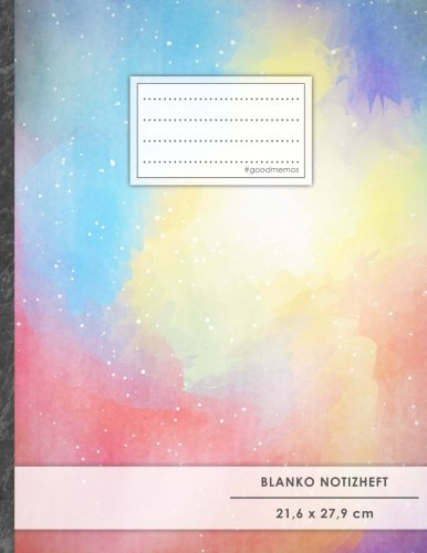 "A4-Format, 100+ Seiten, Soft Cover, Register, ""Bunter Mix"" • Original #GoodMemos Blank Notebook • Perfekt als Zeichenbuch, Skizzenbuch, Sketchbook, Leeres Malbuch (Zeichen Es Ist Ein Mädchen)"