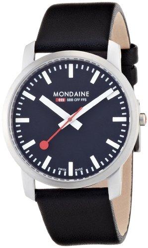 Mondaine - A672.30350.14SBB - Montre Homme - Quartz Analogique - Bracelet Cuir Noir