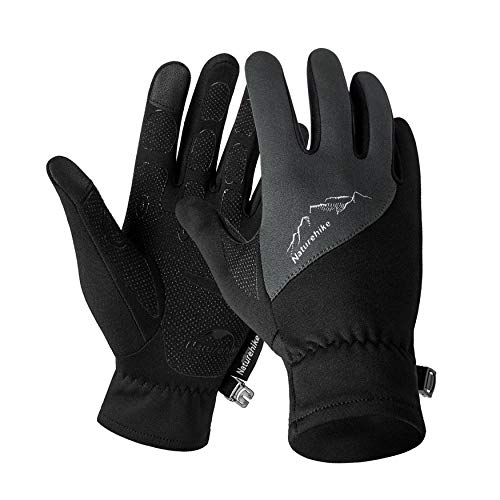 Yaoaomon Outdoor Sport Fleece Glove Men and Women Winter Mountaineering Running Cycling Grey L