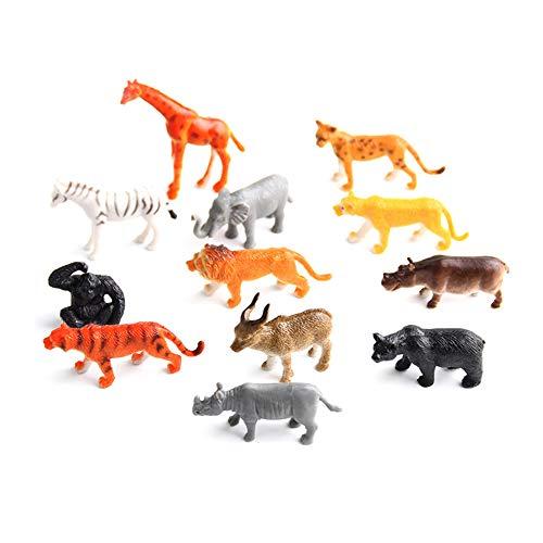 Naisicatar Figura Animal, Conjunto de Juguetes Jumbo Animal de la Selva (12 Piezas), Playkidz Juguetes Realista Wild Animal Vinilo para los niños, Partido plástico Animal favorece *