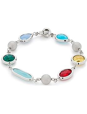 Leonardo Jewels Damen Armband Caramella Edelstahl Glas mehrfarbig 20.5 cm   016178