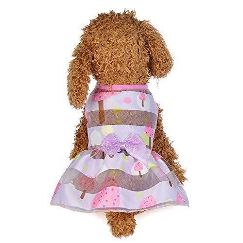 Hawkimin Pullover französisch Frühling und Sommer Bunte Prinzessin Dress Dog Costumes Pet ()