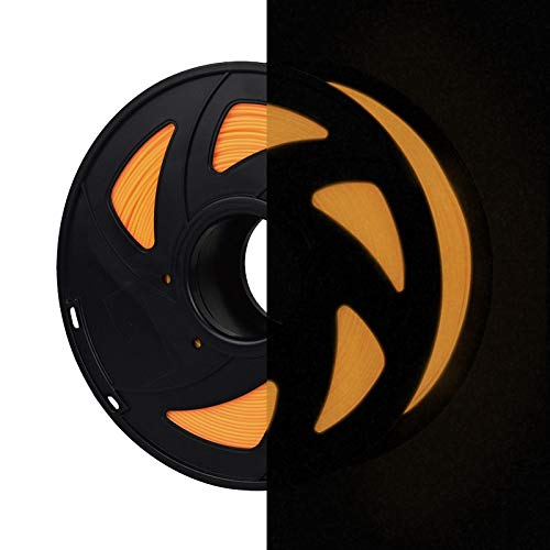 lament Glow in the Dark, PLA Filament 1.75mm 1KG(2.2lb), Orange ()