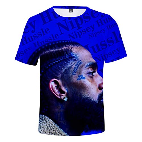 Crenshaw Shirt Nipsey Hussle 3D gedruckte DIY T-Shirt für Männer Hip Hop Rap Tribut Tops T