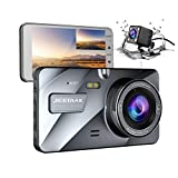 Jeemak Dual Lens Dash Cam Front and Rear 1080P+720P Dashboard Camera,Night Vision Waterproof