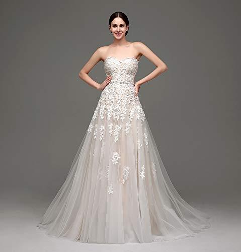 WFL Champagne Braut Hochzeit Kleid Rohr Top Trailing Brautkleid Drag Knospe Seide Garn Fee Kleid...