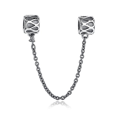 Everbling Bead Sicherheit Kette 925Sterling Silber Bead Passt Pandora Charme Armband (Pandora Armband Sicherheits-charme)