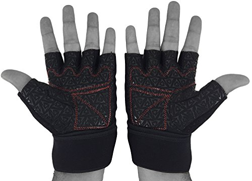 Claw-Weight-lifting-Training-Glove-For-Men-by-JASONS-GEAR-with-Cool-Weave-4-way-stretch-top-hand-18-Wrist-Wrap-Support-3mm-Palm-Padding-Anti-slip-Ultra-grip-Silicon-Palm-Suitable-for-Weight-lifting-He