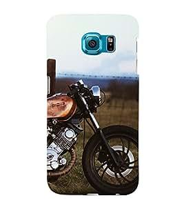 Royal Bike 3D Hard Polycarbonate Designer Back Case Cover for Samsung Galaxy S6 Edge :: Samsung Galaxy Edge G925