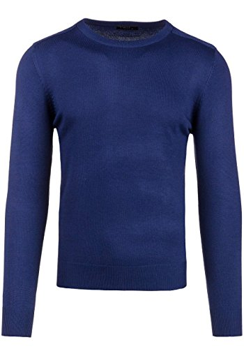 BOLF Herrenpullover Pulli Sweatshirt Sweatjacke Sweater Top MIX Dunkelblau_889