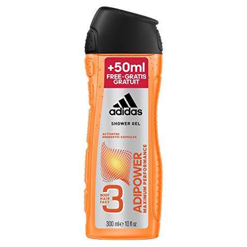 adidas adipower for him Shower Gel 250+50 ml XXL Übergröße, 6er Pack (6 x 0.3 l)