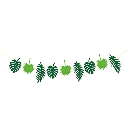 (Homyl Filz Blätter Flaggen Wimpel Girlande Wimpelkette Deko für Luau Hochzeit Geburtstag - Grün, 3m)