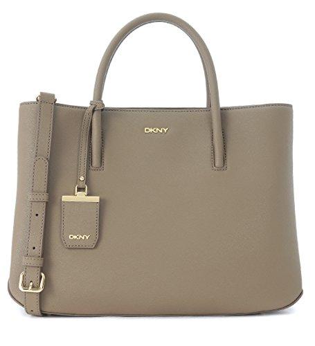 Borsa shopping DKNY in pelle saffiano beige sabbia