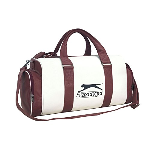 Slazenger Unisex Retro Sports Bag White/Brown