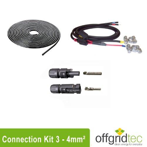 Preisvergleich Produktbild Offgridtec Solar Connection Kit 3 4mm² - 10m Solarkabel, MC4 Steckverbindungen und Batterieverbindungskabel, 0005-10003