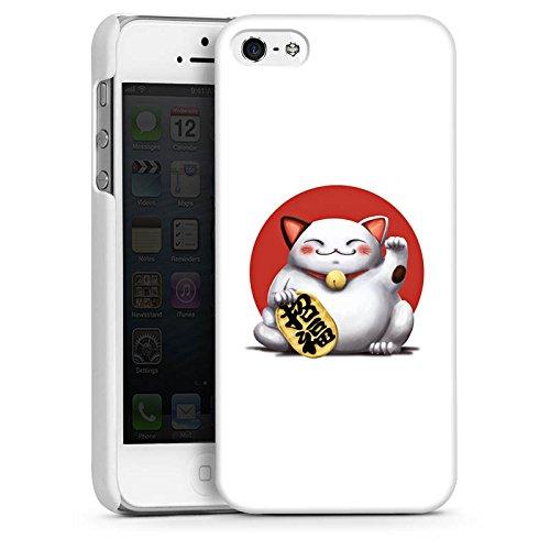 Apple iPhone 4 Housse Étui Silicone Coque Protection Kawaii Chat Japon CasDur blanc