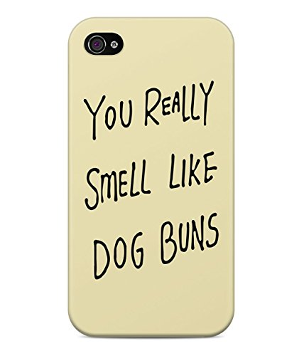 Adventure Time You Really Smell Like Dog Buns Earl Of Lemongrab Hard Plastic Snap On Back Case Cover For iPhone 4 / 4s Custodia