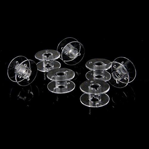 Pixnor 20ST 2,1 cm Clear Plastic heimischen Nähmaschine Spulen für Bruder Singer Toyota Janome - 7