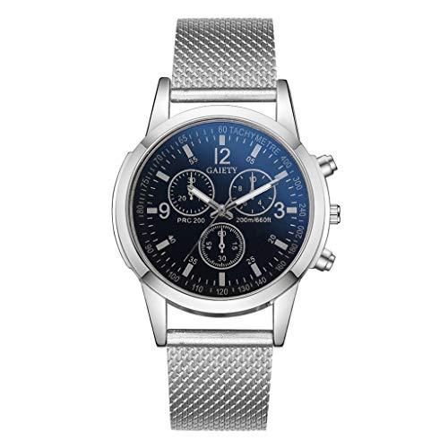 Quarz Uhr Silikon Armband Big Dial Armbanduhr (Schwarz) ()